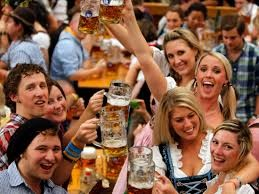 the Oktoberfest crowd